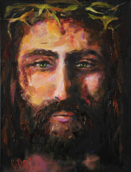 Wall Art - Painting - After The Scourging by Carole Foret