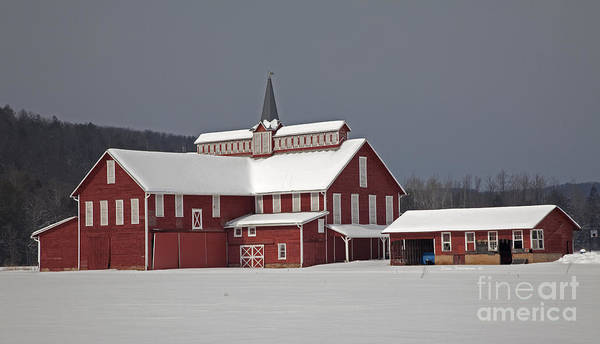 Wall Art - Photograph - After The Storm Red Barn by John Stephens