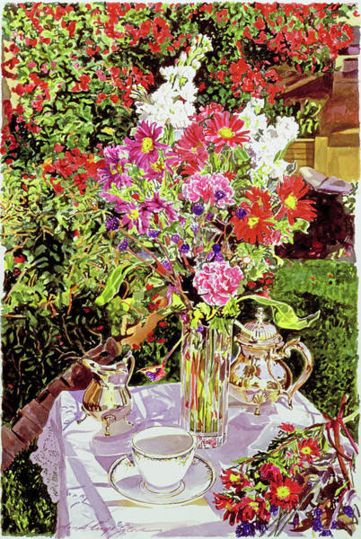 Carnation Painting - After The Tea Party by David Lloyd Glover
