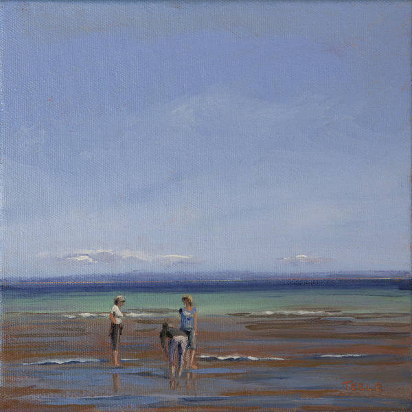 Painting - After The Walk II by Trina Teele