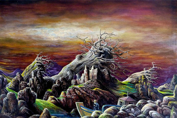 Desolation Painting - After The Wind by Peter Rodulfo
