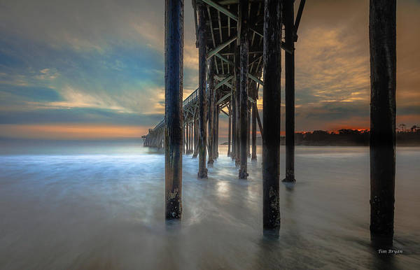 Photograph - Afterglow At San Simeon by Tim Bryan