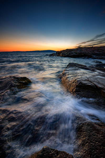 East Point Photograph - Afterglow At Schoodic Point  by Rick Berk