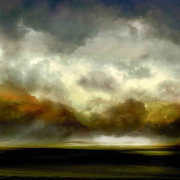 Cloud Mixed Media - Afterglow by Lonnie Christopher