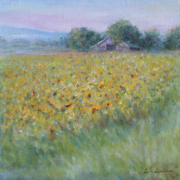 Painting - Afternoon Amidst The Sunflowers by Quin Sweetman