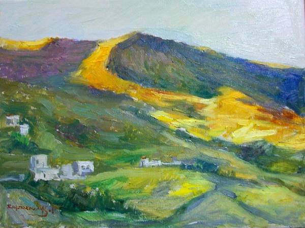 Amorgos Painting - Afternoon Amorgos by George Siaba