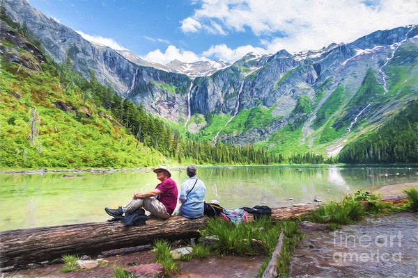 Photograph - Afternoon At Avalanche Lake by Lori Dobbs