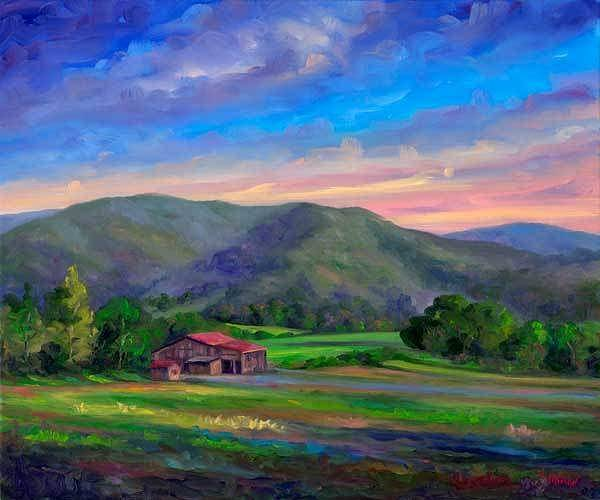 Wall Art - Painting - Afternoon At Claxton Farms by Jeff Pittman