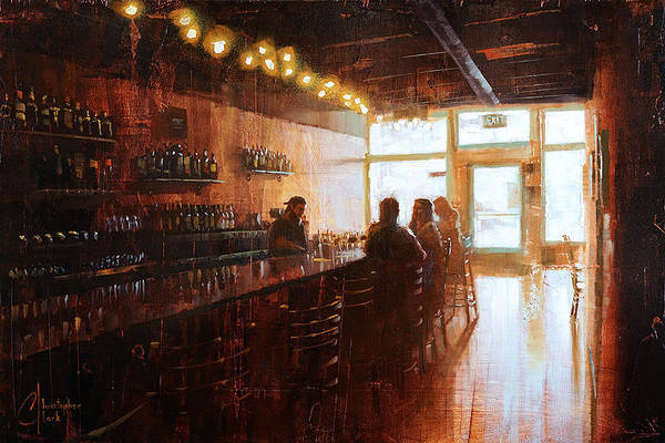 Meadowlark Painting - Afternoon At The Pub Meadowlark Kitchen In Denver by Christopher Clark