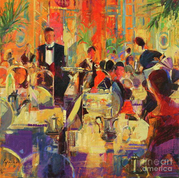 Wall Art - Painting - Afternoon At The Ritz by Peter Graham