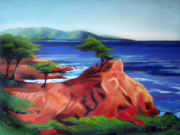Painting - Afternoon Cedars by Angela Treat Lyon