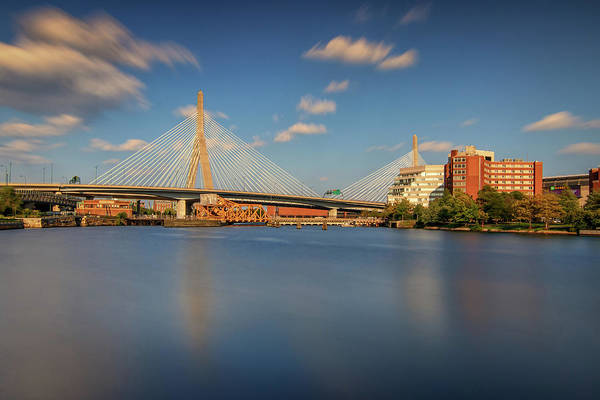 Photograph - Afternoon Clouds At Zakim Bridge by Kristen Wilkinson