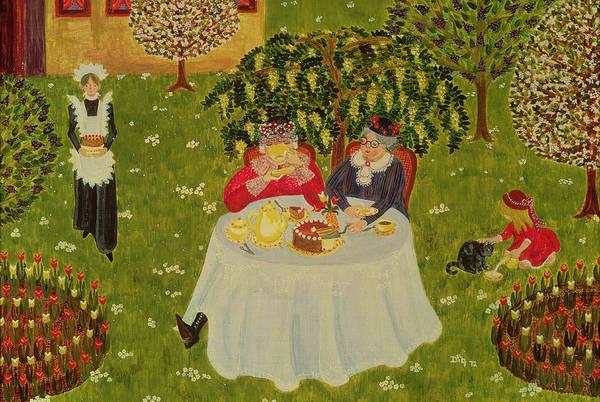 Grandma Wall Art - Painting - Afternoon Coffee by Ditz