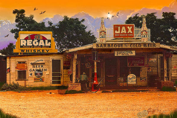 Regal Digital Art - Afternoon In Melrose La Circa 1940 by J Griff Griffin