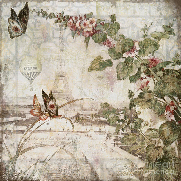 Retro Paris Painting - Afternoon In Paris by Mindy Sommers