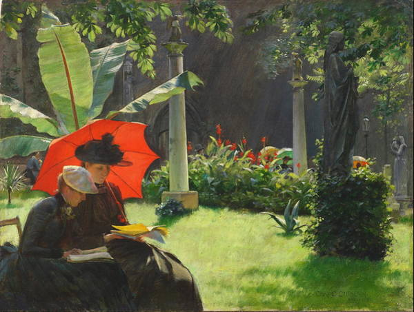 Wall Art - Painting - Afternoon In The Cluny Garden, Paris 1889 by Charles Courtney Curran