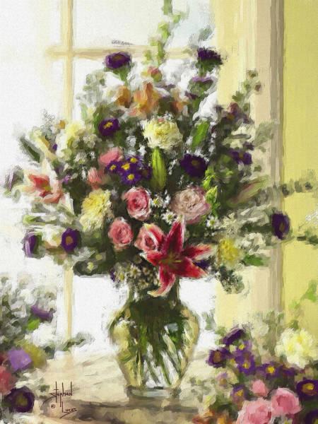 Purple Rose Digital Art - Afternoon Kissed Of Color by Stephen Lucas