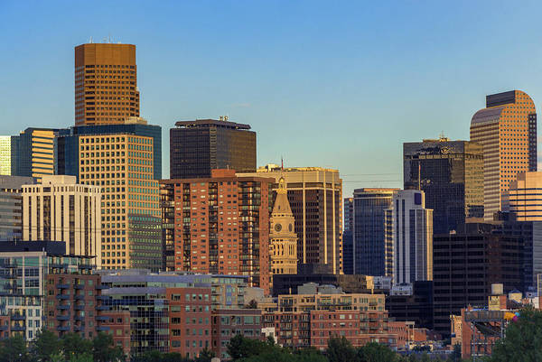 Wall Art - Photograph - Afternoon Light Falls Upon The Skyscrapers Of Downtown Denver by Bridget Calip