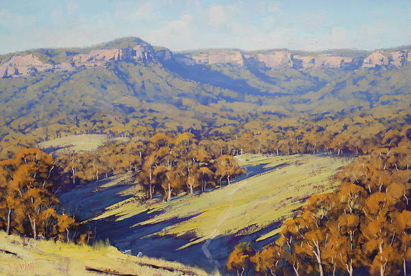 Wall Art - Painting - Afternoon Light Megalong Valle by Graham Gercken