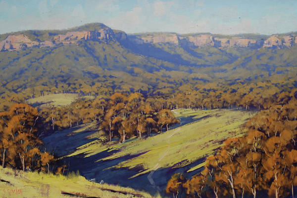 Outdoors Painting - Afternoon Light Megalong Valley by Graham Gercken