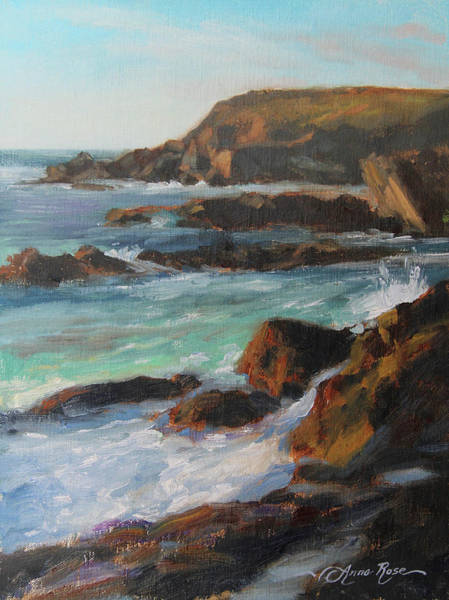 California Landscape Painting - Afternoon Light Point Lobos by Anna Rose Bain