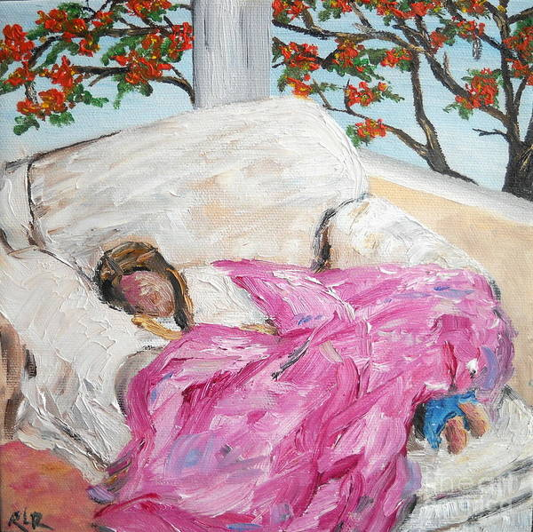 Painting - Afternoon Nap At Grandmas by Reina Resto