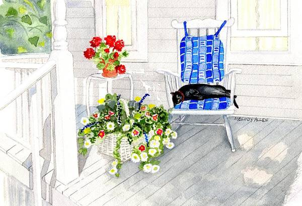 Wall Art - Painting - Afternoon Nap by Melody Allen