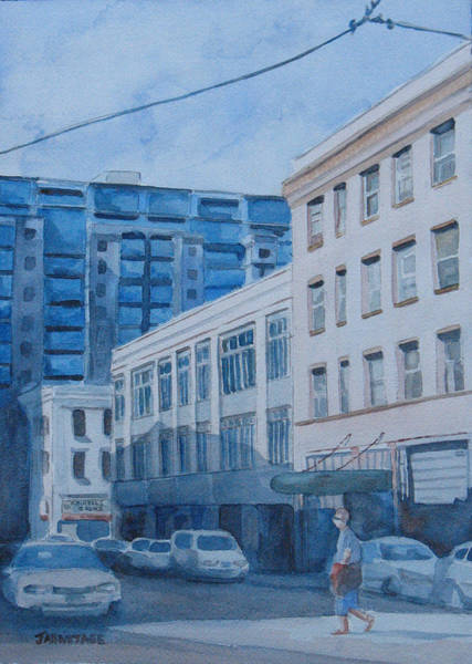 Portland Wall Art - Painting - Afternoon On Sw 11th Street by Jenny Armitage