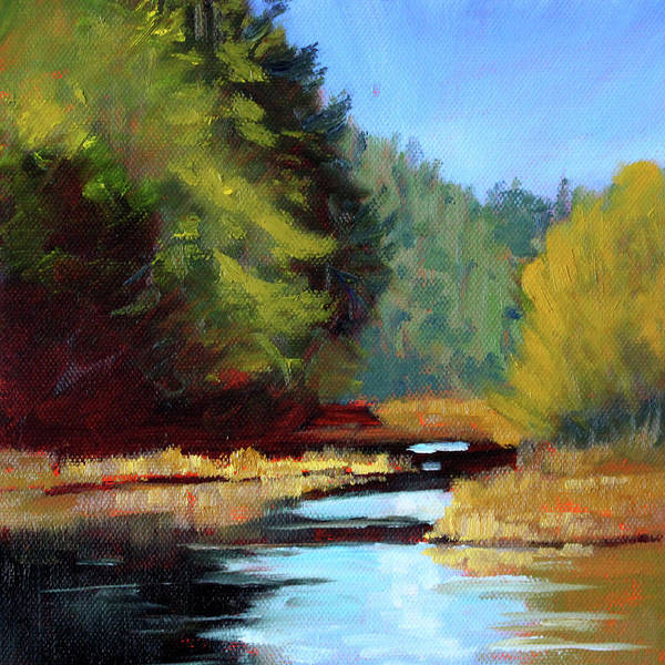 Wall Art - Painting - Afternoon On The River by Nancy Merkle