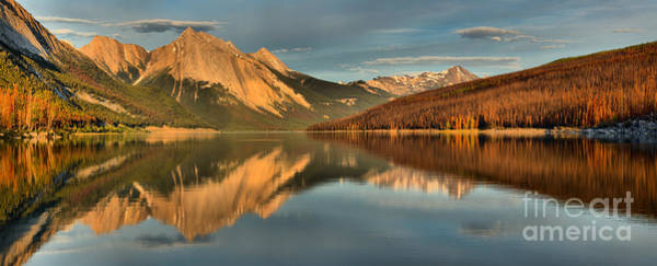 Photograph - Afternoon Reflections At Jasper Medicine Lake by Adam Jewell
