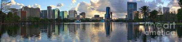 Photograph - Afternoon Reflections Of The Orlando Skyline by Adam Jewell