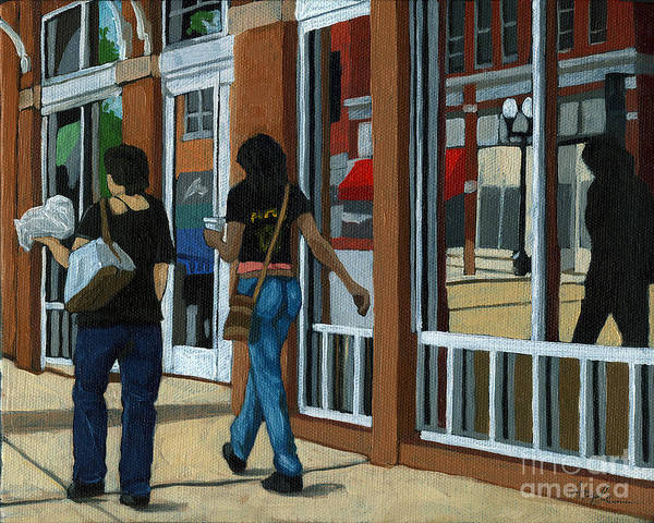 Wall Art - Painting - Afternoon Reflections - Oil Painting Columbus Ohio by Linda Apple