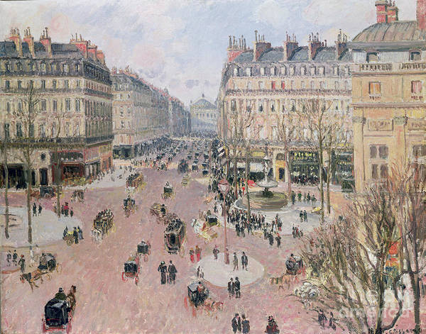 Painting - Afternoon Sun In Winter by Camille Pissarro