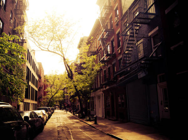 Greenwich Village Photograph - Afternoon Sunlight On A New York City Street by Vivienne Gucwa