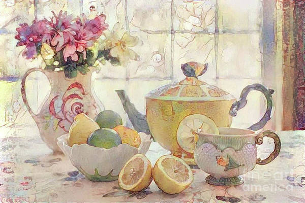 Wall Art - Digital Art - Afternoon Tea by Amy Cicconi
