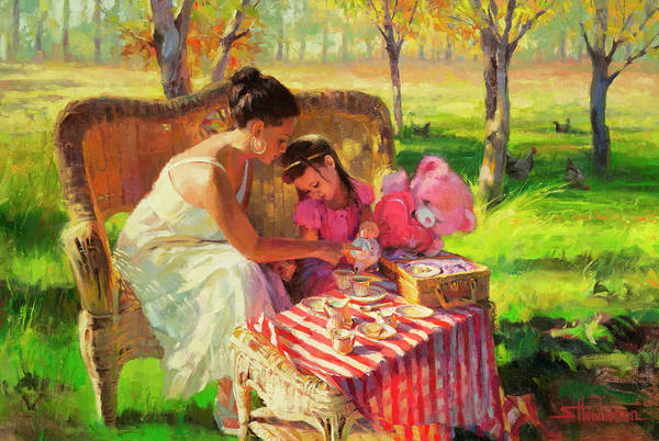 Teddy Bear Painting - Afternoon Tea Party by Steve Henderson