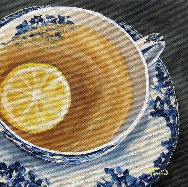 Tea Painting - Afternoon Tea  by Torrie Smiley