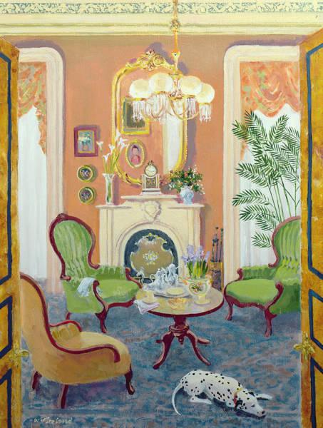 Elegant Dog Painting - Afternoon Tea by William Ireland