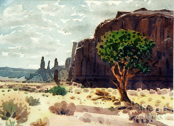 Butte Painting - Afternoon View by Donald Maier