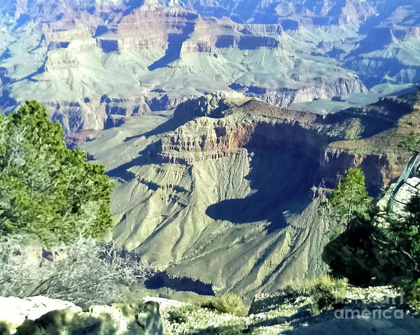 Afternoon View Grand Canyon Art Print
