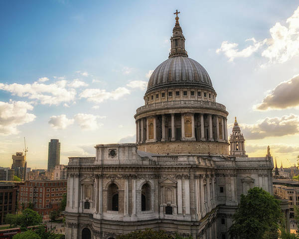 Photograph - Afternoon View Of St. Paul's Cathedral by James Udall