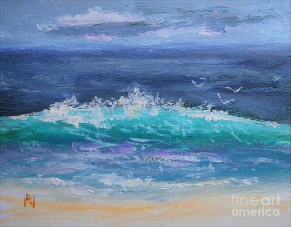 Love In The Afternoon Painting - Afternoon Wave Breaking by Philip Jones