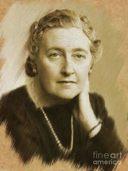 Poetry Painting - Agatha Christie by Mary Bassett