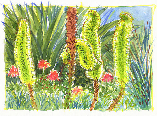 Painting - Agave In Bloom by Judith Kunzle