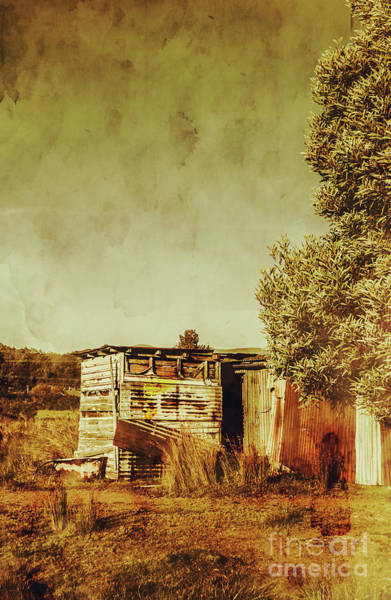 Rural Photograph - Aged Australia Countryside Scene by Jorgo Photography - Wall Art Gallery