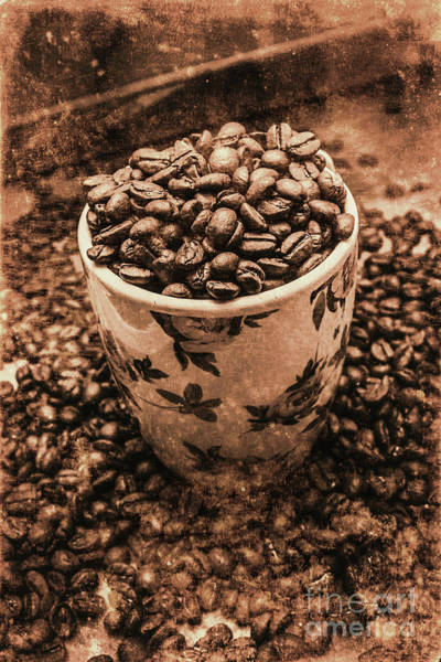 Wall Art - Photograph - Aged Filter Of Coffee Beans In Mug by Jorgo Photography - Wall Art Gallery