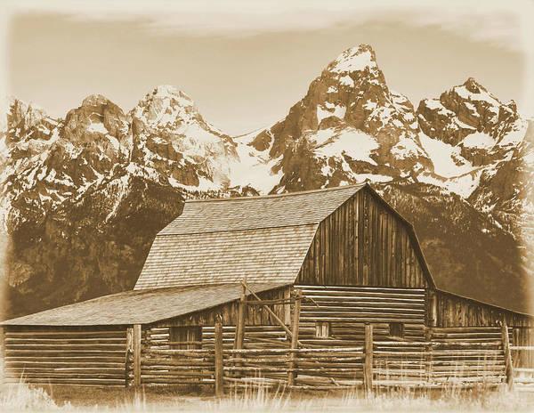 Photograph - Aged Moulton Barn Grand Teton National Park by Dan Sproul