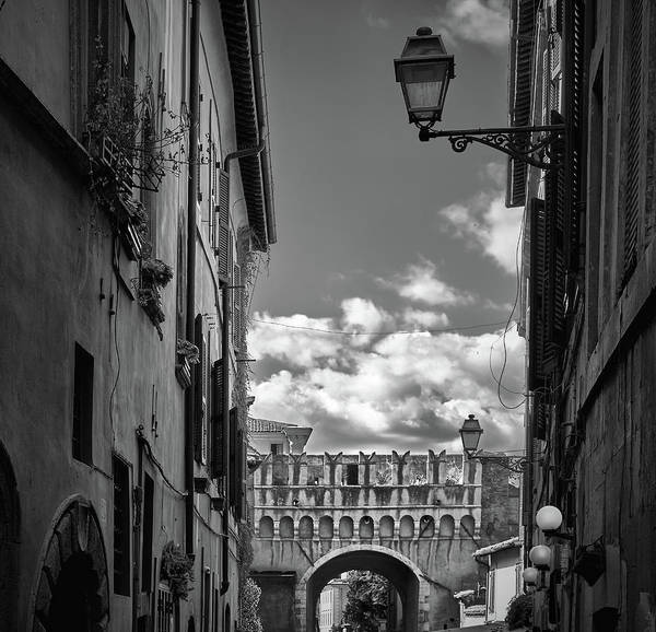 Photograph - Aged Walls And Arch On The Streets Of Rome by Fine Art Photography Prints By Eduardo Accorinti