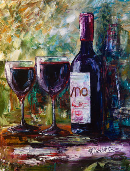 Painting - Aged Wine by OLena Art - Lena Owens