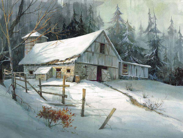 Winter Painting - Ageless Beauty by Michael Humphries